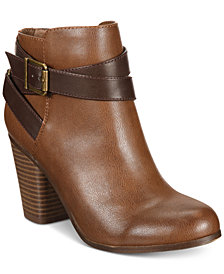 Material Girl Lexia Block-Heel Booties, Created for Macy's