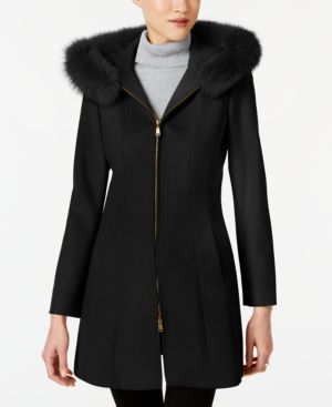 FORECASTER | Forecaster Fox-Fur-Trim Hooded Walker Coat | Goxip