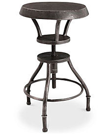Lucian Iron Top Adjustable Bar Stool, Quick Ship