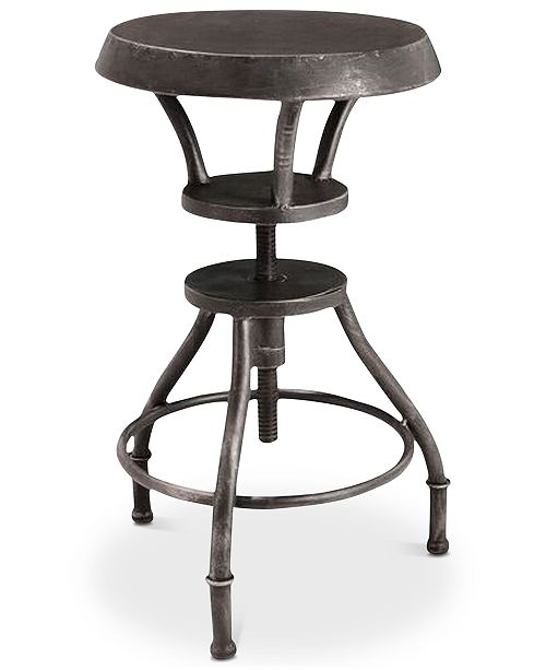 Groovy Lucian Iron Top Adjustable Bar Stool Quick Ship Caraccident5 Cool Chair Designs And Ideas Caraccident5Info