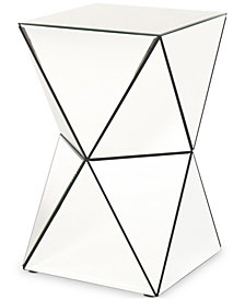 Kalin Mirrored Side Table, Quick Ship