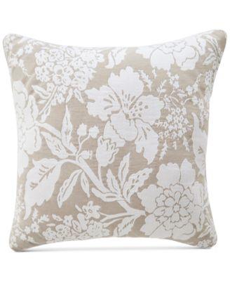 """CLOSEOUT! Nellie Floral 18"""" Square Decorative Pillow"""