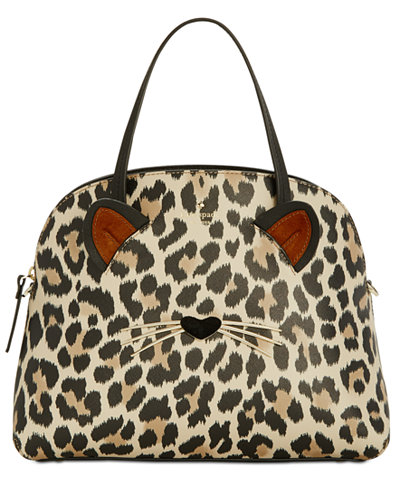 Kate spade purses handbags macys kate spade new york run wild leopard lottie satchel junglespirit Gallery
