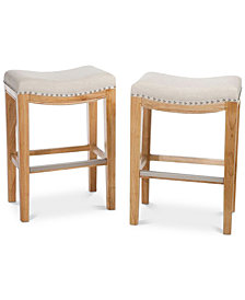Edley Backless Bar Stool (Set of 2), Quick Ship