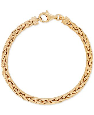 Spiga Link Bracelet in 10k Gold - Bracelets - Jewelry & Watches - Macy's