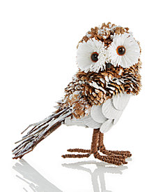 Holiday Lane Pine Cone Owl Ornament, Created for Macy's