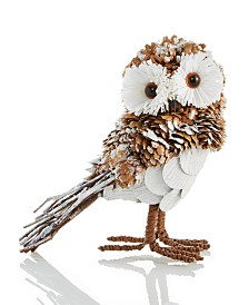 Holiday Lane Upstate Pinecone Owl Ornament Created For Macy's