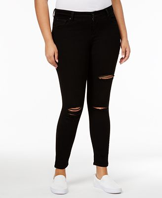 Celebrity Pink Trendy Plus Sized Ripped Skinny Jeans - Jeans ...