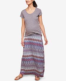 Motherhood Maternity Printed Maxi Skirt