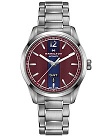 Hamilton Men's Swiss Automatic Broadway Stainless Steel Bracelet Watch 42mm