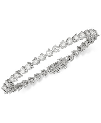 Diamond Tennis Bracelet (3 Ct. T.W.) In 14k White Gold by Macy's