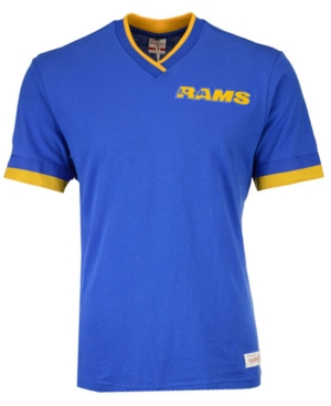 Mitchell & Ness MEN'S LOS ANGELES RAMS OVERTIME WIN VINTAGE T-SHIRT