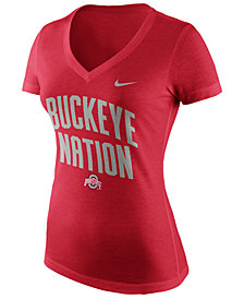 Nike Women's Ohio State Buckeyes Local Phrase V T-Shirt
