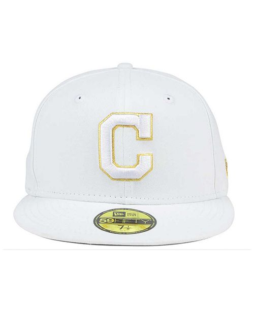 0bb946745ec ... ebay new era cleveland indians white on metallic 59fifty cap sports fan  shop by lids men