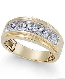 Men's Diamond Five-Stone Ring (1-1/2 ct. t.w.) in 10k Gold