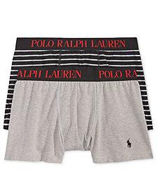 Polo Ralph Lauren Men's 2 Pack Ultra-Soft Cotton Comfort Blend Boxer Briefs