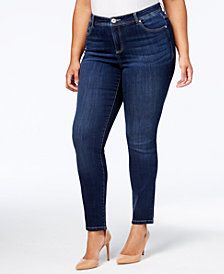 I.N.C. Plus Size Tummy Control Skinny Jeans, Created for Macy's