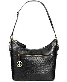 Embossed Faux Ostrich Hobo, Created for Macy's