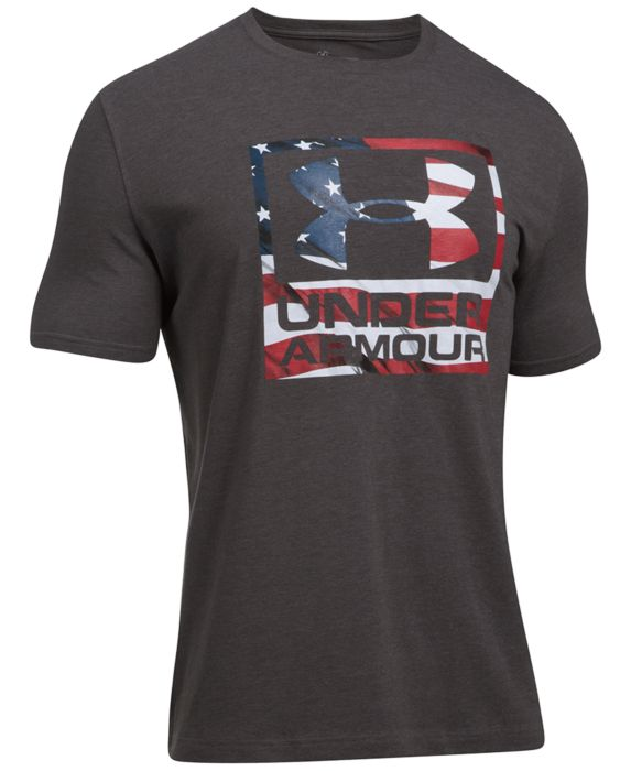 Under Armour Mens Charged Cotton® Graphic T-Shirt, Gray, Size: XXL