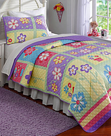 Laura Hart Kids Sweet Helena Reversible 3-Pc. Full/Queen Quilt Set