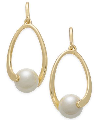Charter Club Imitation Pearl Drop Earrings, Created for Macy's