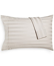 Bergen Stripe Certified 100% Egyptian Cotton 1000-Thread Count King Pillowcases, Set of 2