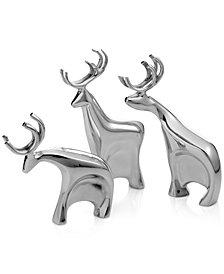 Nambé Blitzen Reindeer Figurines, Set of 3