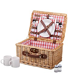 Plaid Red Catalina Picnic Basket