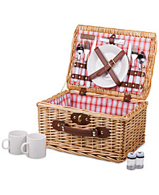 Picnic Time Plaid Red Catalina Picnic Basket
