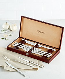 10-Piece Steak Knife and Carving Set in Rosewood-Colored Presentation Chest