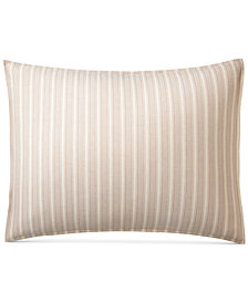 CLOSEOUT! Lauren Ralph Lauren Graydon Cotton Bold Stripe King Sham