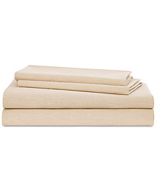 Lauren Ralph Lauren Graydon SoftWeave 144, 4-Pc. Queen Sheet Set