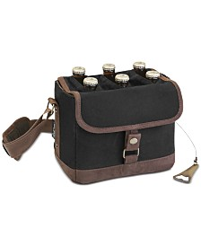 Legacy® by Picnic Time Beer Caddy Black & Brown Cooler Tote with Opener
