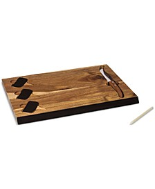 Toscana® by Delio Acacia Wood Cheese Board & Tools Set