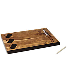 Picnic Time Delio Acacia Wood Cheese Board & Tools Set