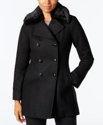 Ladies black pea coats
