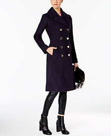 GUESS Knee-Length Double-Breasted Peacoat