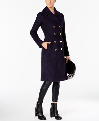 Guess Knee Length Double Breasted Peacoat Coats Women