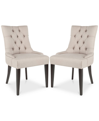 Abby 19''H Tufted Side Chairs (Set Of 2), Quick Ship
