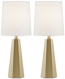 Pacific Coast Set Of 2 Antique Brass Table Lamps