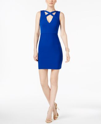 Guess blue dress yellow stones