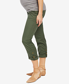 Motherhood Maternity Straight-Leg Ankle Pants