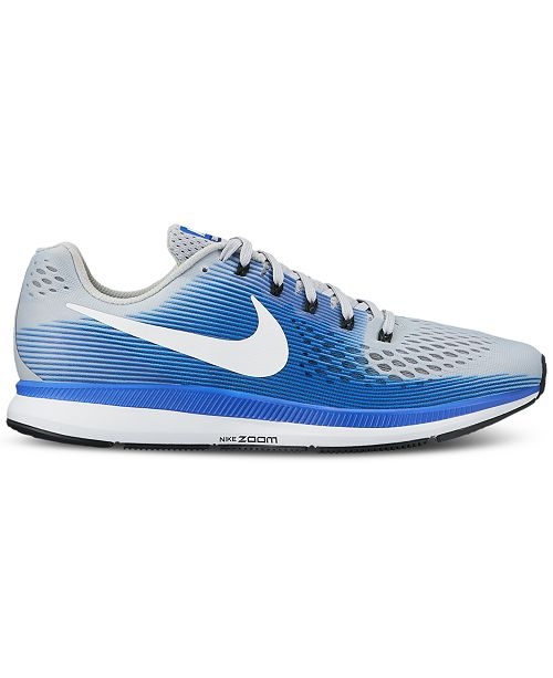 the best attitude 3b75a 9ebd0 ... Nike Mens Air Zoom Pegasus 34 Wide Running Sneakers from Finish ...