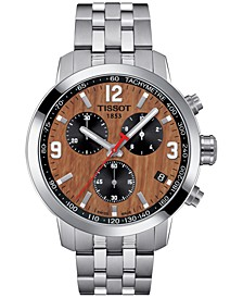 Men's Swiss Chronograph PRC 200 NBA Stainless Steel Bracelet Watch 42mm