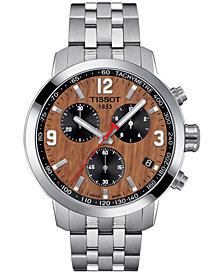 Tissot Men's Swiss Chronograph PRC 200 NBA Stainless Steel Bracelet Watch 42mm