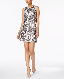Vince Camuto Sequined Embroidered Dress
