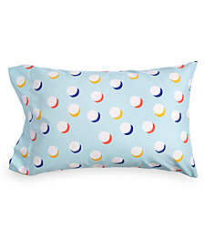 Scribble Dot-Print Standard Pillowcase