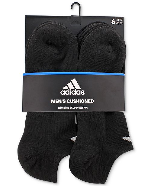 00715817f3be adidas Men's Cushioned Athletic 6-Pack No Show Socks & Reviews ...
