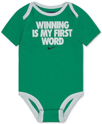 Winning Is My First Word Cotton Bodysuit, Baby Boys (0-24 months)