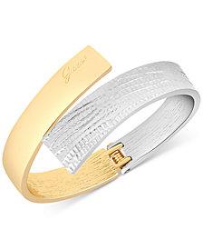 GUESS Two-Tone Hinged Bangle Bracelet